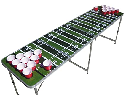 Amazon the pong squad football beer pong table with holes