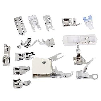 Un Set con 15 Piezas Prensatelas Accesorios para Máquina de coser: Amazon.es: Electrónica