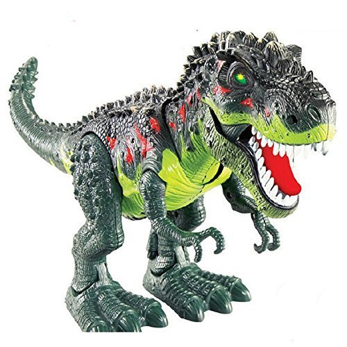 ERollDeep Dinosaur Toys, Electronic Dinosaur Toys Walking Dinosaur con intermitente y sonidos para niños (grande)