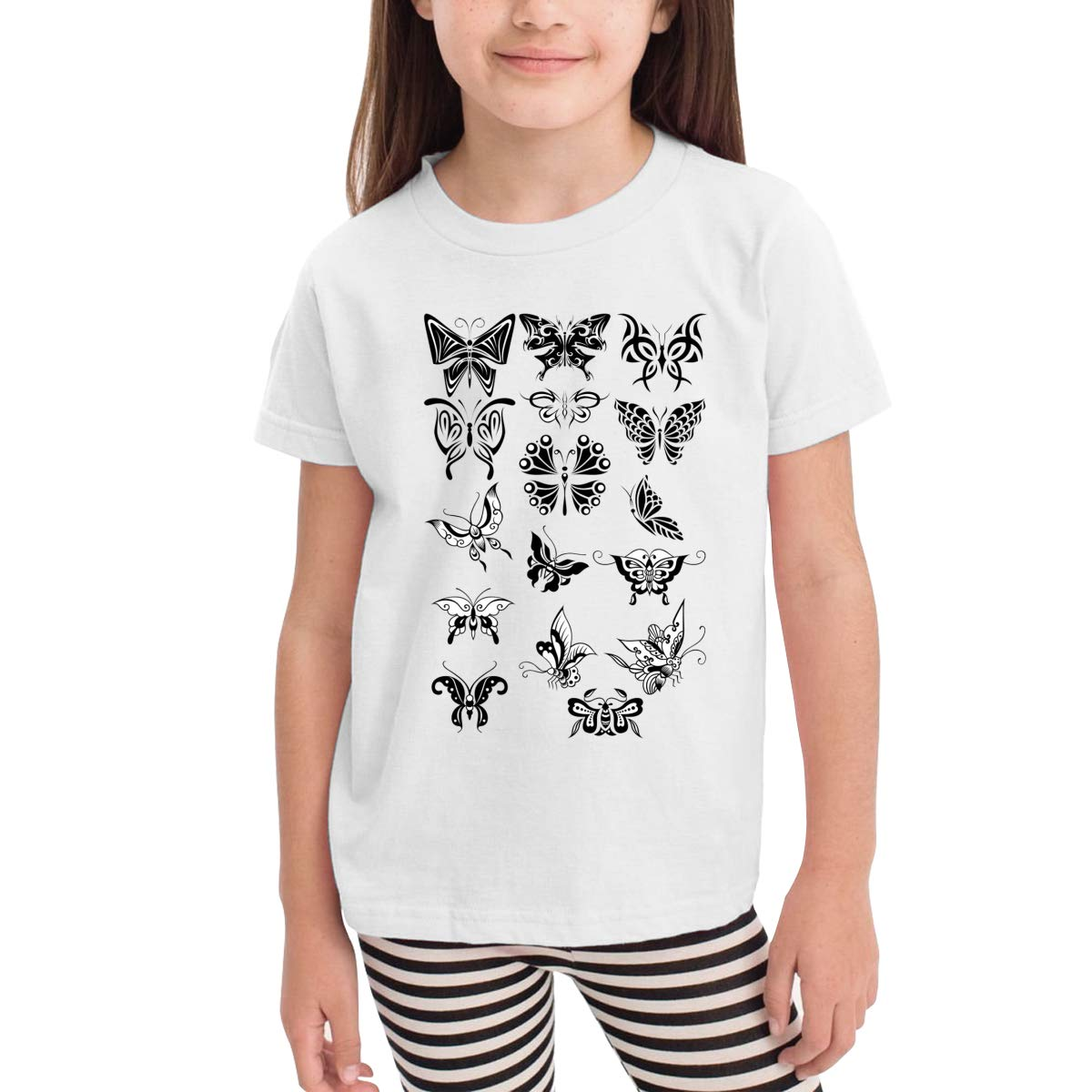 Onlybabycare Watercolor Butterflies 100/% Cotton Toddler Baby Boys Girls Kids Short Sleeve T Shirt Top Tee Clothes 2-6 T