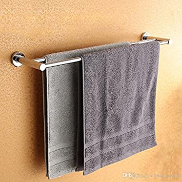 INDISWAN Stainless Steel Double Towel Rack Holder (24 Inch)