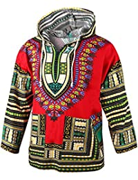 African Long Sleeve Dashiki Unisex Traditional Hoodie Top