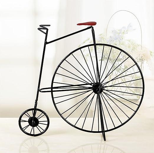 liuhoue Bicicleta Retro Creativa Artesanía Decoración, Hierro ...