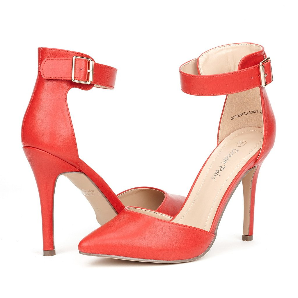 DREAM PAIRS レディース B011CKA54C 7.5 B(M) US|Oppointed-ankle-red Oppointedanklered 7.5 B(M) US