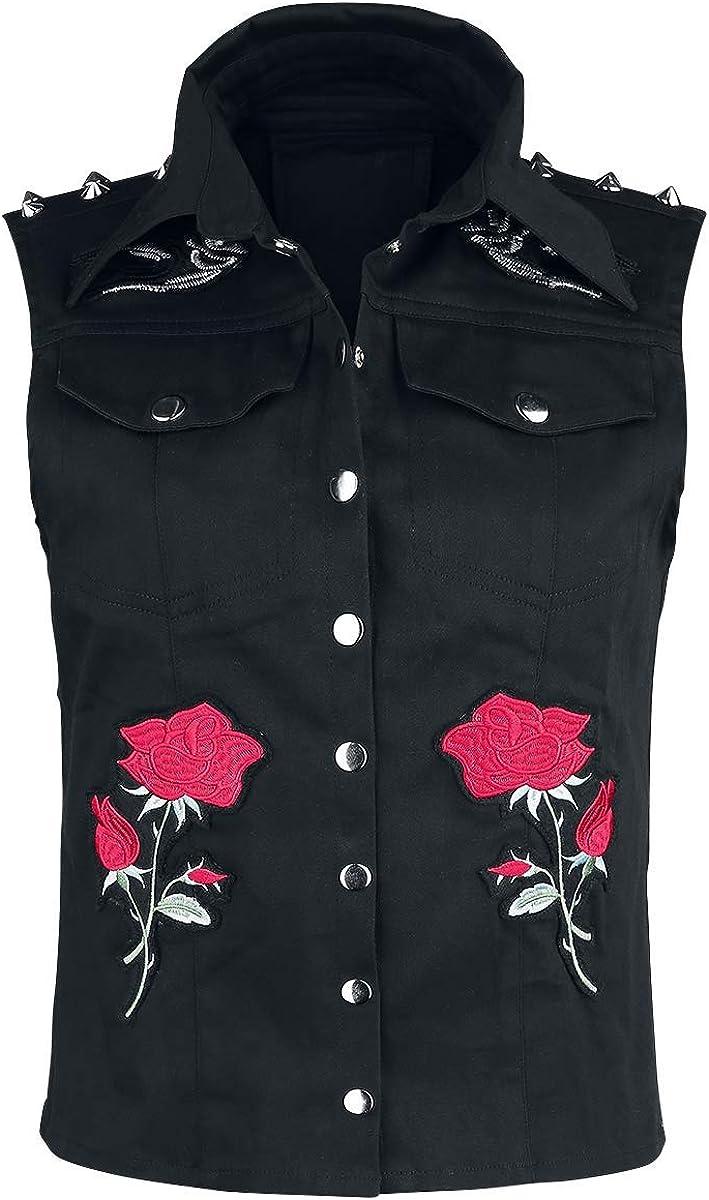 Vixxsin Roosa Rose Jacket Girls Jacket Black