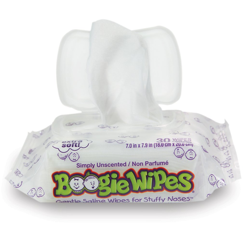 Boogie Wipes Soft Natural Saline Wet Tissues for Baby and Kids Sensitive Nose, Hand, and Face with Moisturizing Aloe, Chamomile, and Vitamin E, Unscented, 30 Count (Pack of 3) by Boogie Wipes (Image #7)