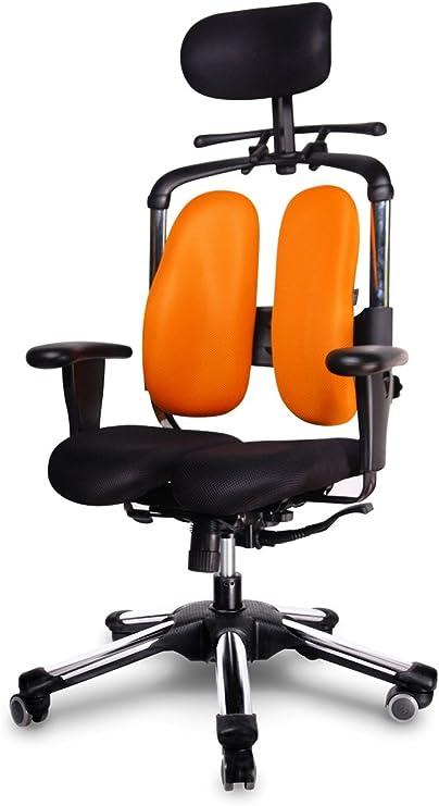 Hara Chair New Health Chair Orthopedic Office Chair Ergonomic Office Chair Model Nie V Orange Black Amazon Co Uk Kitchen Home