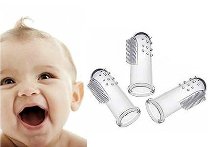 Bebé cepillo de dientes con caso Set (3 pcs) dedo cepillo de dientes para