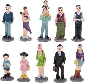 10Pcs Modellfiguren Charakter Menschen Familien Sand Tisch Modell Szene