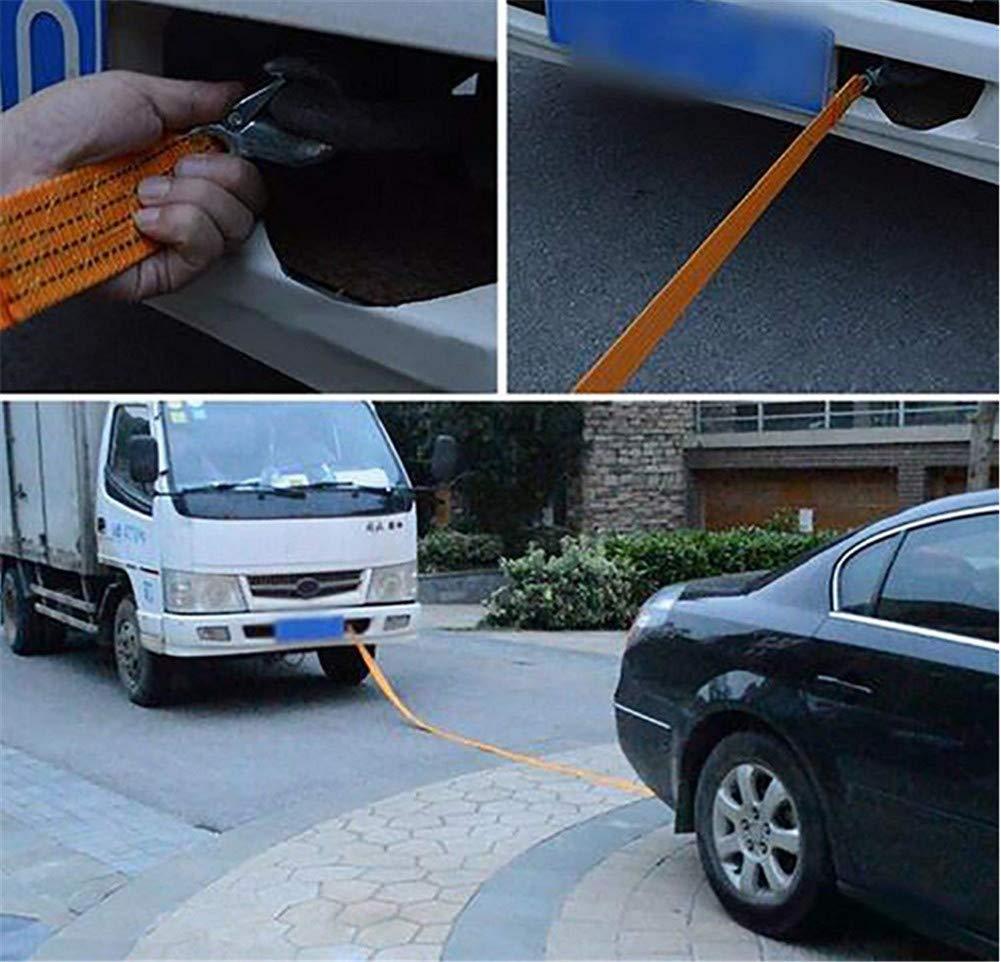 de alta resistencia de coches de remolque cuerdas con 2 ganchos de seguridad La fuerza de la cuerda de remolque for el coche // SUV // Emergencia // Barco 10t de tracci/ón m/áxima fuerza de la cuerda d