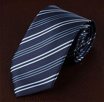 Corbatas para Hombre,Tiras Azules Ropa Formal para Hombres Trabajo ...