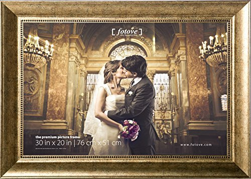 Fotove 20x30 Golden Antique Picture Photo Frame