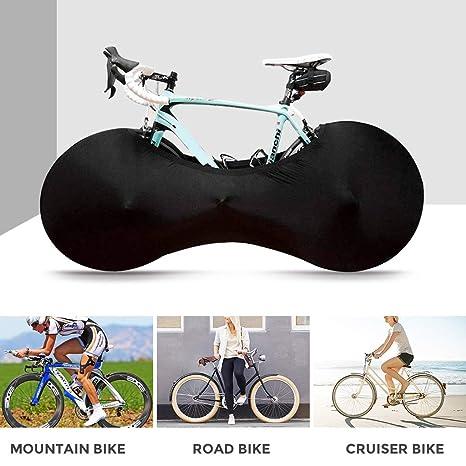 Seafard Indoor Bike Cover Keeps Floors and Walls Dirt-Free Washable Elastic Anti-Free Bike Storage Bag Wheel Cover Tire Package Fit MTB Road Bike All Bicycles