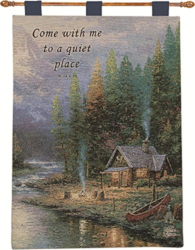 Thomas Kinkade Woodland Peace Paradise Religious Bible Ve...