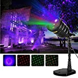 Suaoki Laser Star Light Show Aurora Borealis Projector Night Light with Red/Green Laser & Blue LED Light, Remote Control, Timer, IP65 Waterproof for Christmas Xmas Holiday Decorations Party Garden