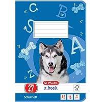 Herlitz 11322617 – Cuaderno, 10 unidades, A5/, diseño (renglones) en color, certificado FSC Mixed, diseños variados