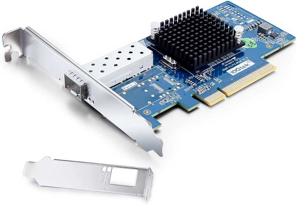 10Gb Ethernet Network Adapter Card- for 82599 Controller, Compare to Intel X520-DA1, Network Interface Card (NIC), PCI Express X8, Single SFP+ Port Fiber Server Adapter