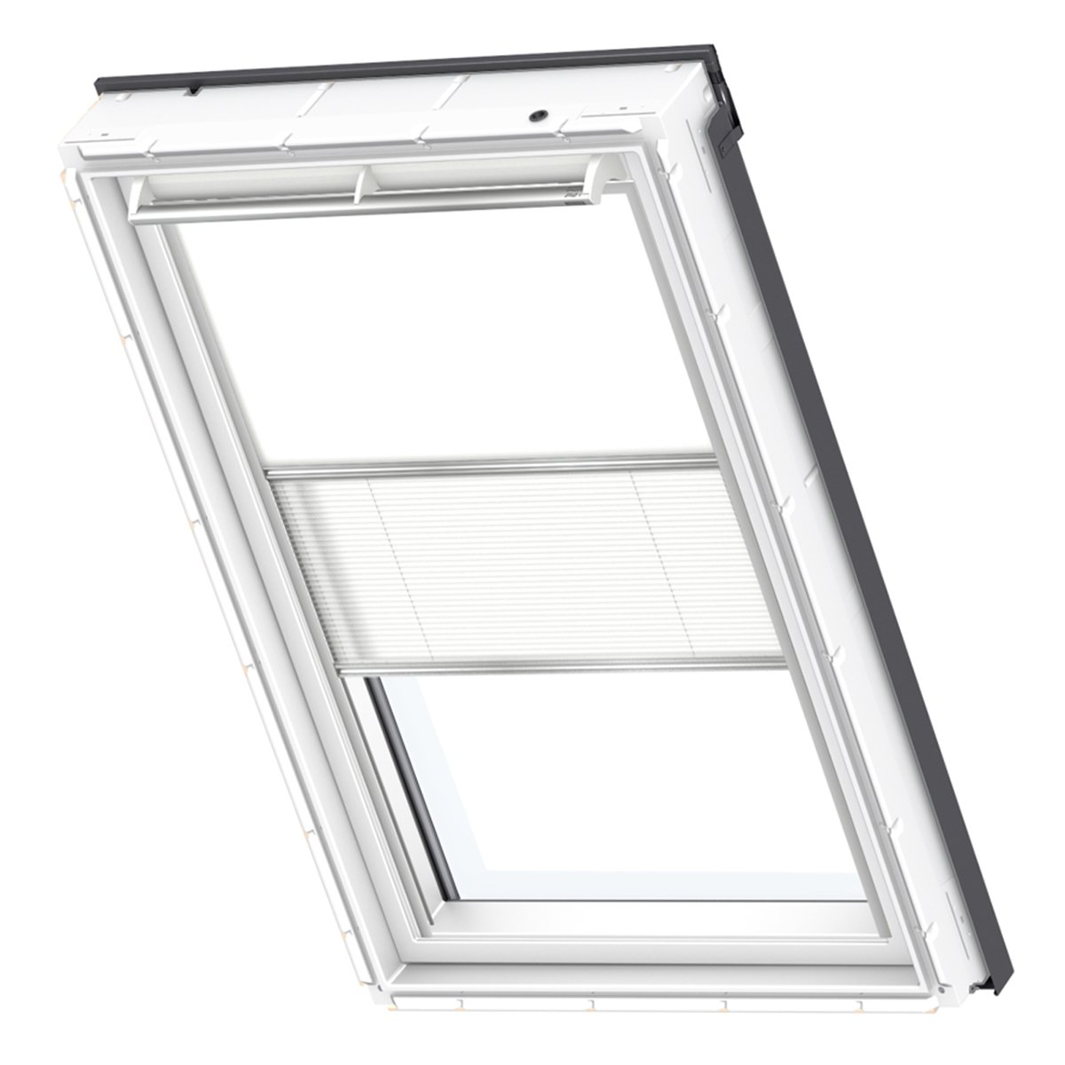 VELUX Original Verdunkelung Plus Dachfenster, S08, Uni Weiß Weiß