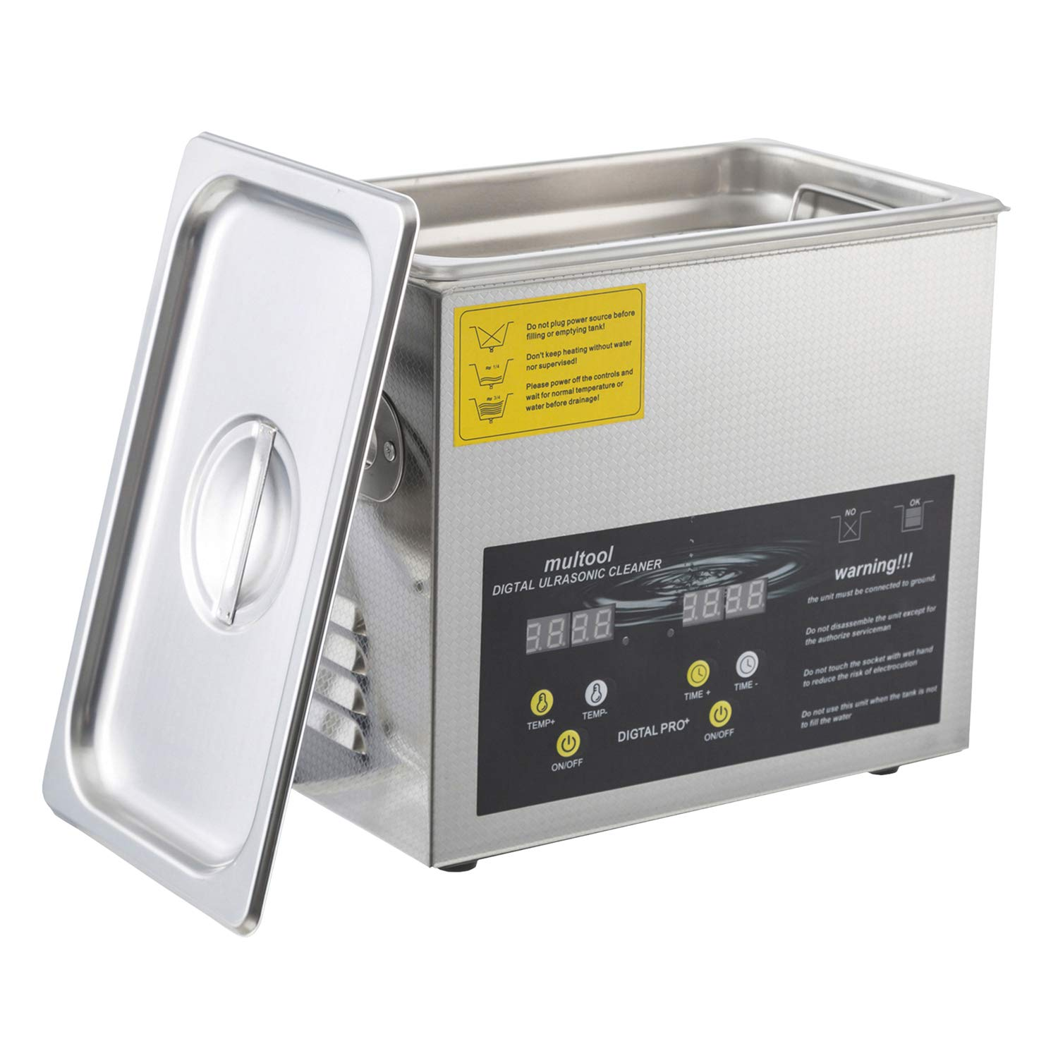 Ultrasonic Cleaner 3L with Heater and Timer Ideal for Cleaning Jewelry Glasses Watch Bands Bike Parts by C2O
