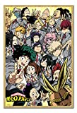 My Hero Academia School Compilation Poster Magnetic Notice Board Beech Framed - 96.5 x 66 cms (Approx 38 x 26 inches)