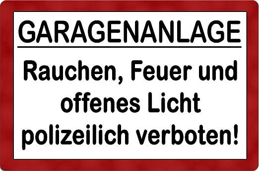 garage Prohibido fumar - Metal Sign - IB Laursen Cartel TXT ...