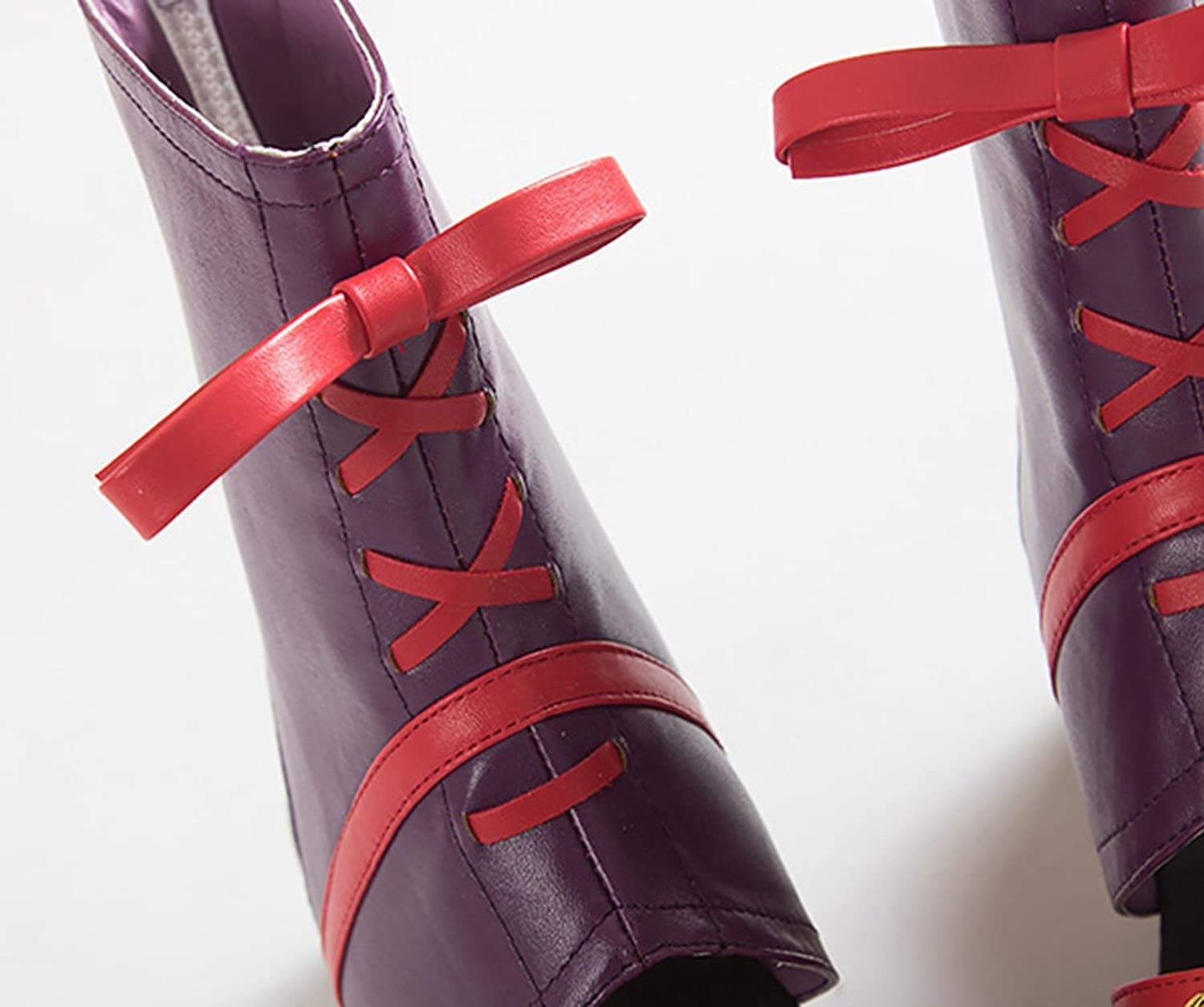 Brdwn Women's Cosplay Kagura Flatform Shoes Short Boots Shoes