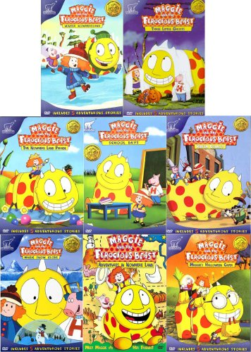 Maggie and the Ferocious Beast (8 Pack) - Pack 1 / in Nowhere Land /Maggie's Halloween Caper / Magic Snow Globe / Ride'em Cowboy / School Days / the Nowhere Land Parade / Three Little Ghosts / Winter Nowhereland for $<!---->