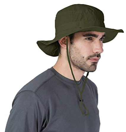 a009f7921 Boonie Sun Hat for Men & Women - Summer Cap with UV Protection - UPF 50  Outdoor Bucket Hat for Fishing, Beach, Hiking, Safari, Camping, Gardening &  Boating ...
