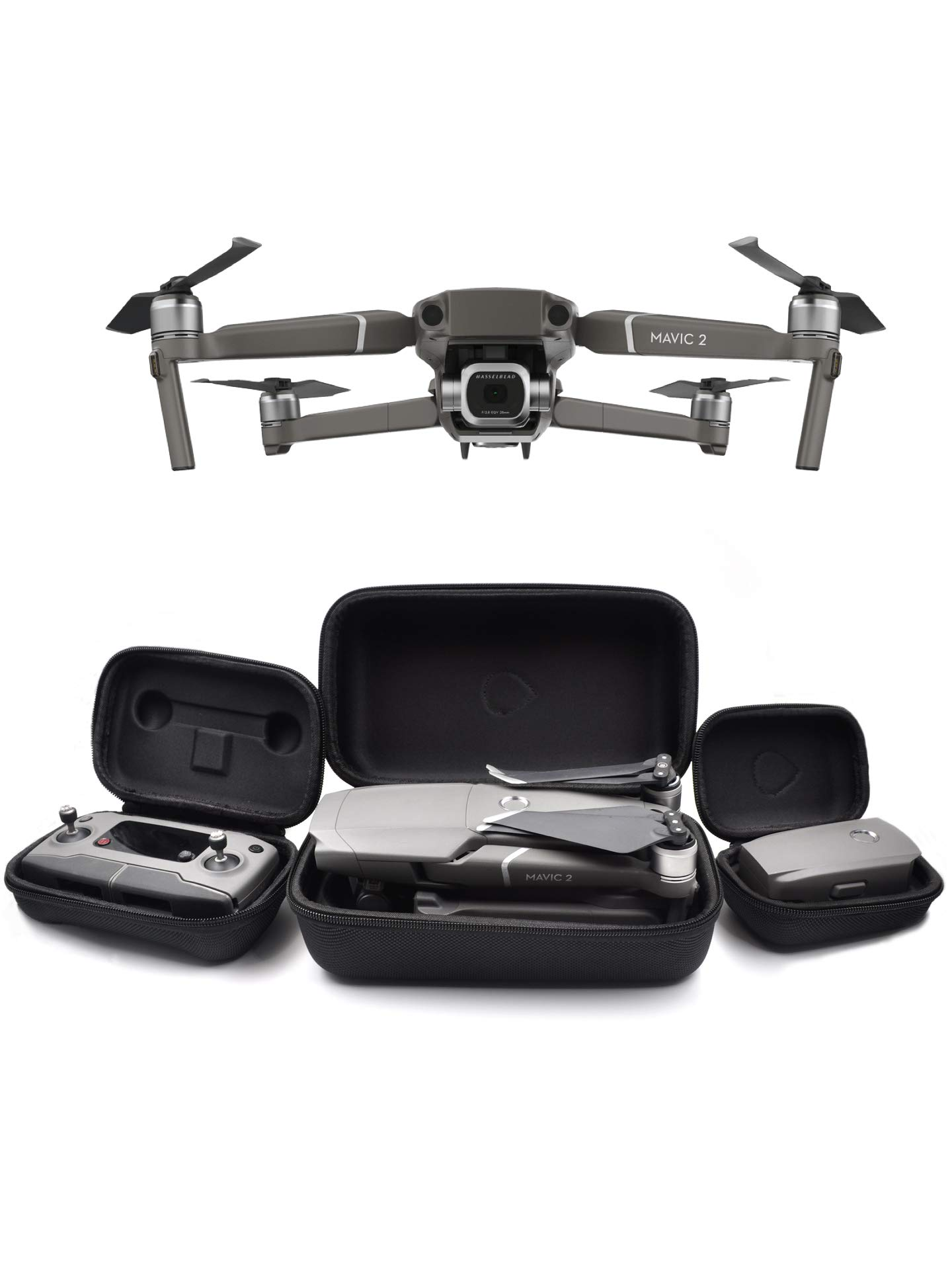 GoScope Mavic 2 Go Case: Compatible with Mavic 2 Pro and Mavic 2 Zoom - Adventure/Travel Water-Resistant Nylon Hard Case - DJI Mavic 2 Zoom/Pro Hard Case for Aircraft Body, Controller, and Battery by GOSCOPE