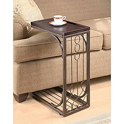 Coaster Furniture Brown and Copper Finished Accent Table