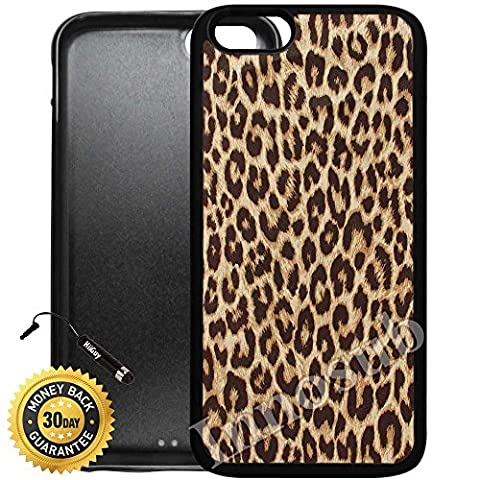 Custom iPhone 6/6S Case (Cheetah Print) Edge-to-Edge Rubber Black Cover with Shock and Scratch Protection | Lightweight, Ultra-Slim | Includes HD Tempered Glass and Stylus Pen by (Iphone 5 Cases Cheetah)