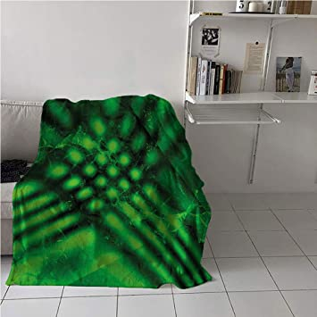 Amazon.com: Suchashome Lime Green Throw Blanket,Psychedelic ...