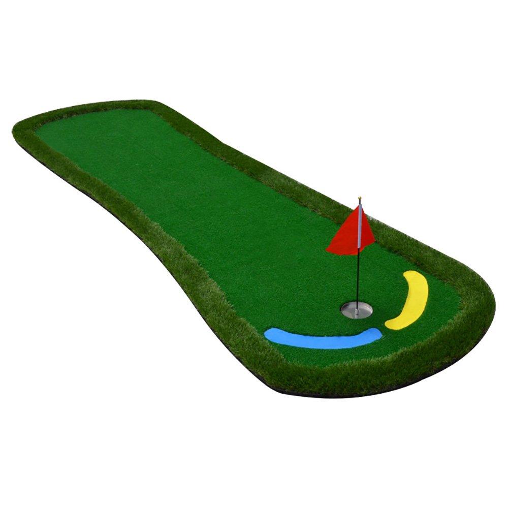 DS-ゴルフトレーニングマットゴルフ室内練習用マットパット練習用マット300cm×95cm &&   B07K31MMJ5