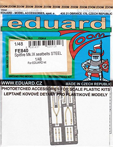 - Eduard Photoetch Zoom 1:48 -spitfire Mk.ix Seatbelts Steel Kit