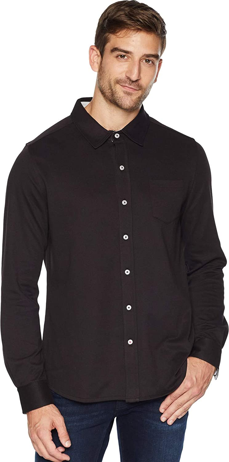 Toes on the Nose Mens Eagle Long Sleeve Knit Button Down