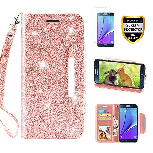 Galaxy Note 5 Case, with Screen Protector, TPU + Leather Bli