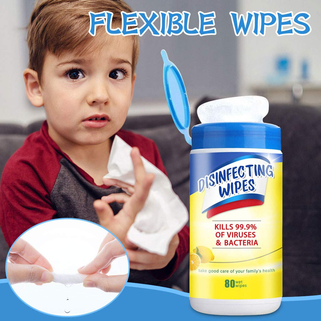80 Pieces Each 1PC Wipes Skin-friendly Shlucky Non-woven Fabric Soft Wipes Suitable For Various Occasions Compact