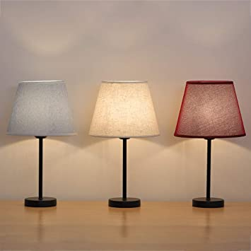 Haitral Small Table Lamps Elegant Bedside Nightstand Lamps With 3