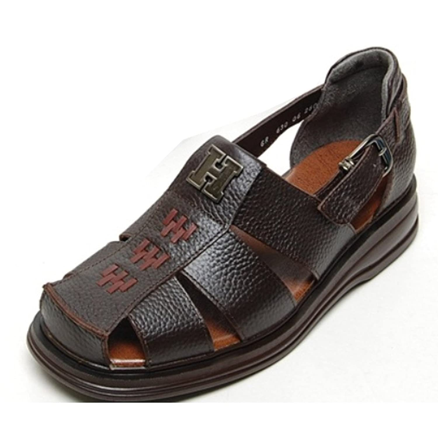 5ca958cf2e36 EpicStep Men s Genuine Leather Comfort Closed Toe Buckle Strap Fisherman  Sandals Shoes