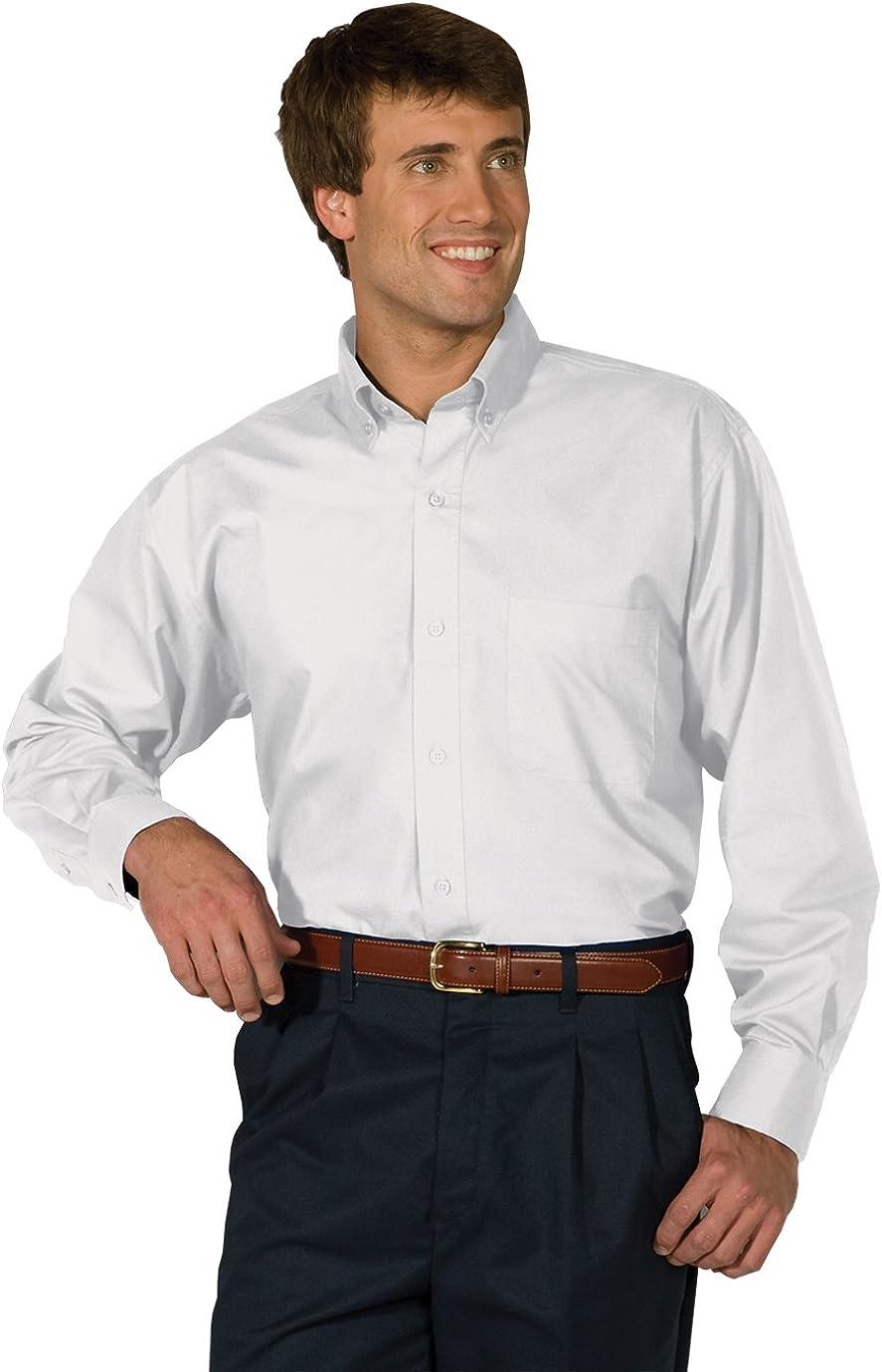 Edwards Mens Double Stripe Dress Poplin Shirt
