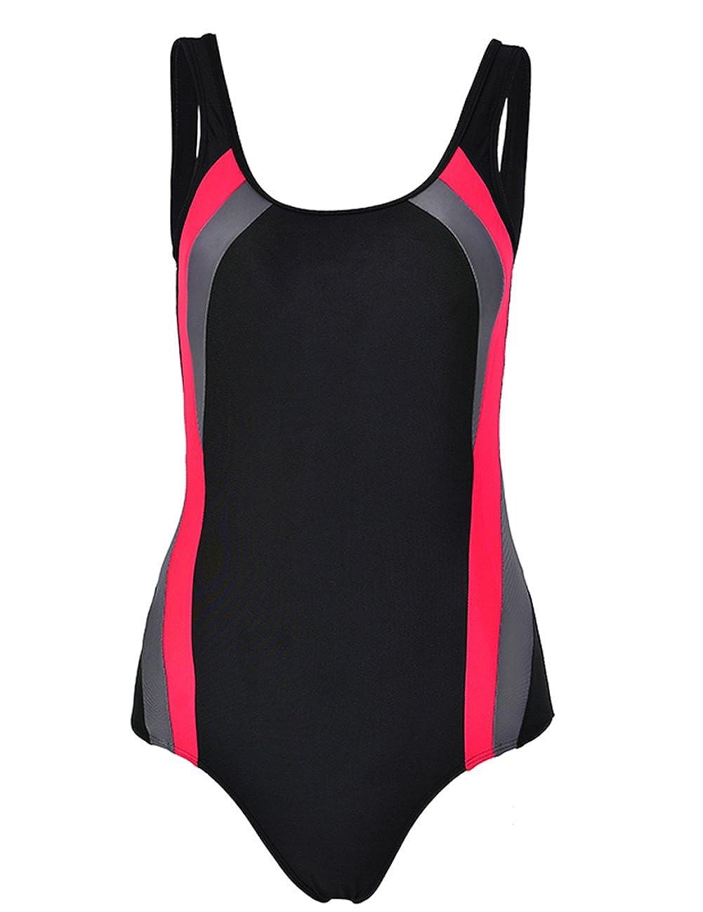 RIBIKA Women Push Up Bikini Set One Pieces Swimsuit Beachwear Bathing Suit