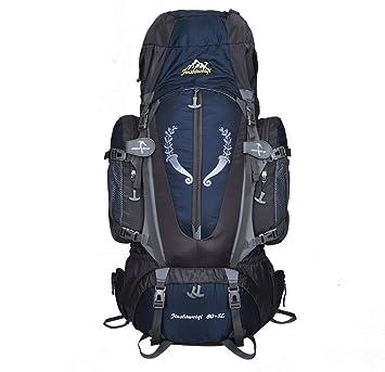Heligen 85L Nilón Mochila Senderismo Mochila Hombre Impermeable de Trekking Viaje Montaña Acampada Escalada 36 x 20 x 80 CM (Oscuro): Amazon.es: Deportes y ...