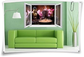 Medianlux 3D Fenster Wanbild Wandtattoo Aufkleber Wohnzimmer ...