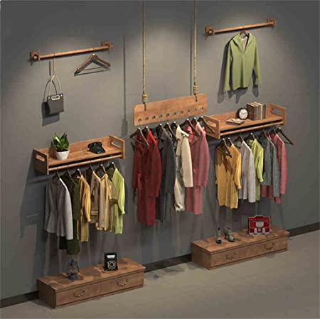 Amazon.com: Dika UK Coat Racks Free Standing Wooden Wall Hanger Clothes Hanger Rack Clothes Storage Organiser for Store Utility Room Bedroom (Color ...