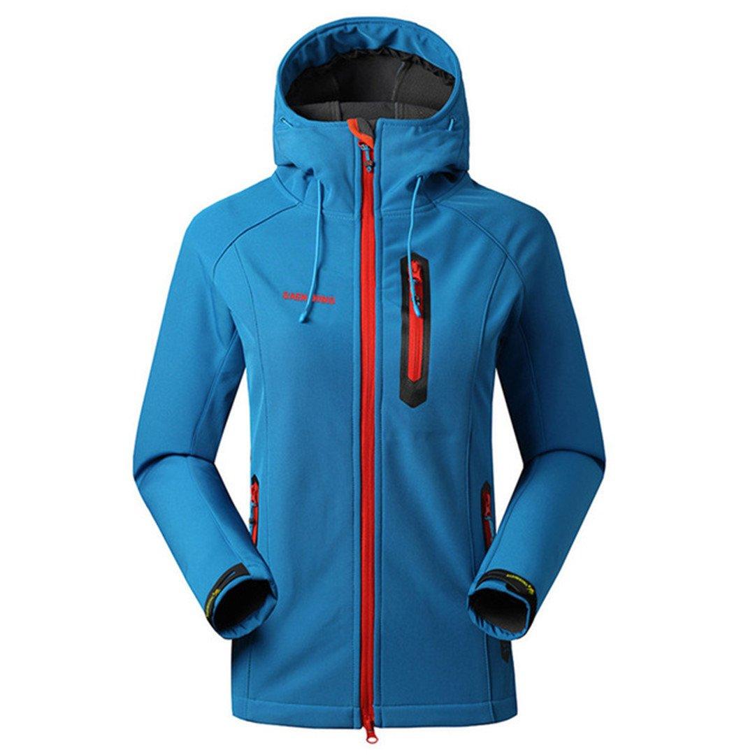Waterproof Rain Coat Outdoor Hiking Clothing Female Windproof Soft Shell Fleece Jackets Jiakes