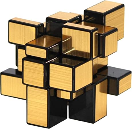 Toy Arena All in 1 Twisty High Stability Speed and Smooth Stickerless Magic Puzzle Rubiks Mirror Cube (Gold)