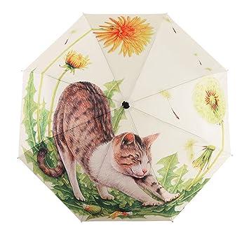 d0473343f BXT Ladies Fashion Cat Art Umbrella 3-Folding Walking Umbrella Unique  Travel Umbrella Sturdy Windproof