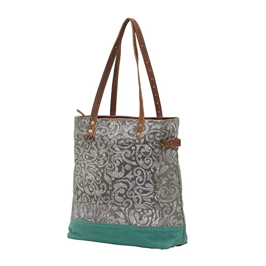 Myra Bags Abstract Upcycled Canvas Tote Bag S-0739