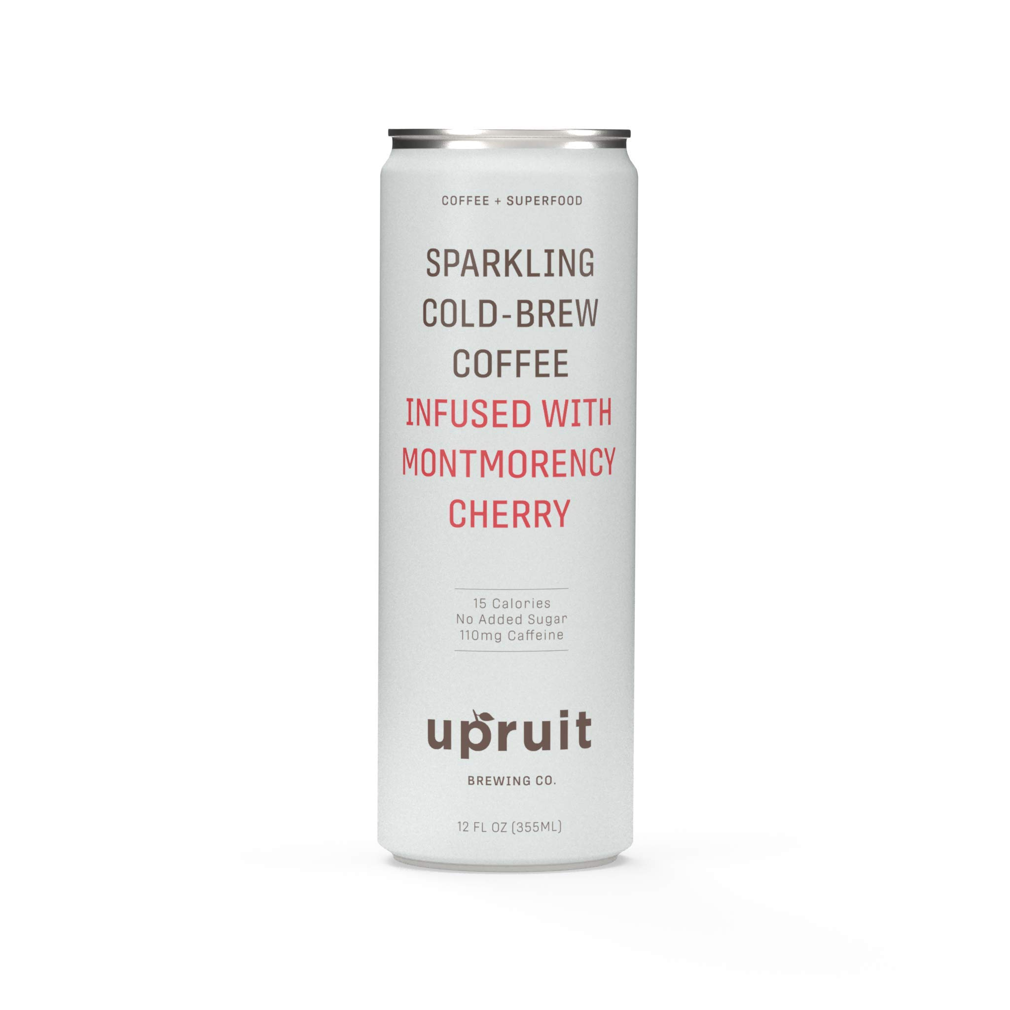 Upruit Sparkling Cold Brew Coffee | Montmorency Cherry | Non GMO | Gluten & Dairy Free | 11oz | 8 Pack by Upruit