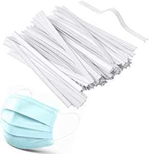 ASONA 100pcs Washable Plastic Nose Piece Wires for Mask Sewing, Insert Dual Metal Wire Twist Ties, Flat Bendable Nose Strips Bridge Clip, Mask Making Supplies Accessories for DIY Handmade Craft